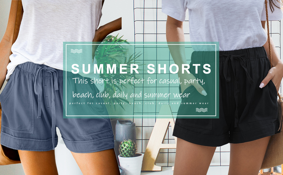 linen shorts women