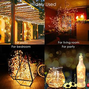 Christmas String Lights 33ft 100 LED with Controller Fairy Twinkle Lights Decoration Chirstmas Tree