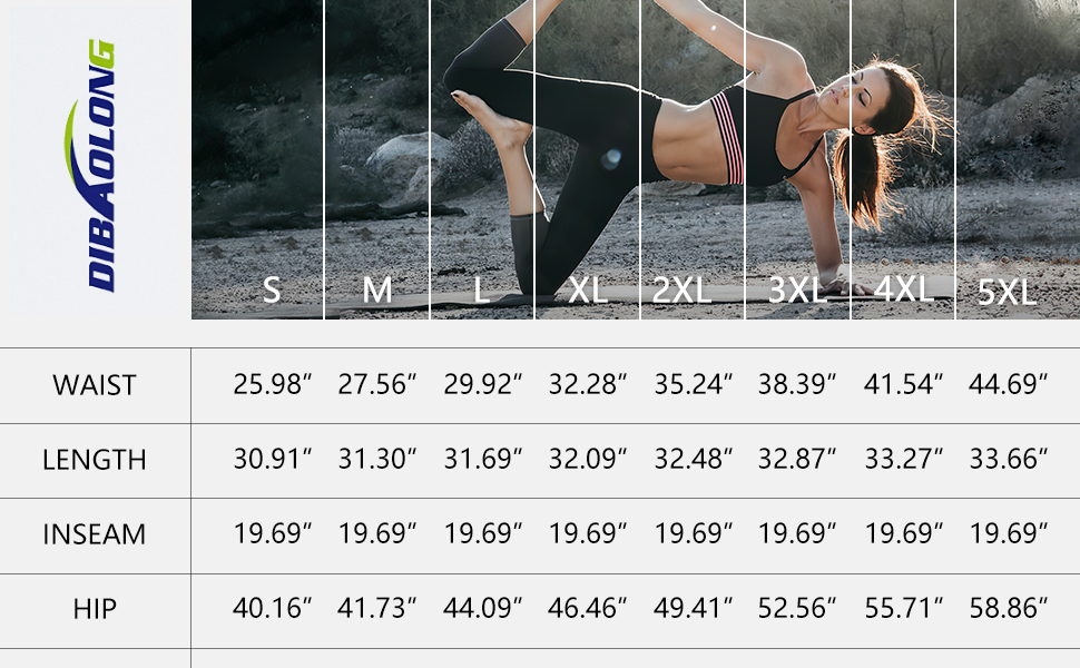DIBAOLONG Womens Loose Capris Size Chart