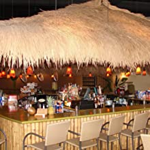 Mexican Straw Grass Thatch used to cover an indoor bar top