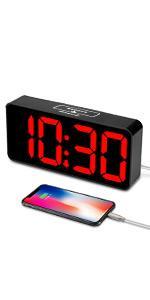 large digital clock red display