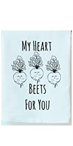 My Heart Beets For You Dish Towel