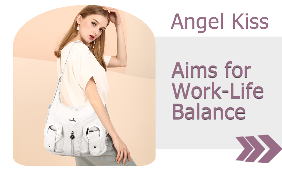 Angel Kiss Hobo Handbag