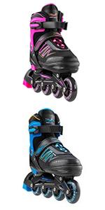 Blue/Pink Inline Skates