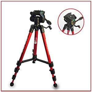 Jaguar 3 Way Pan Head Photo Video Tripod for Mobile and Cameras Combo Contains 4.7 Feet SPN-FOR1