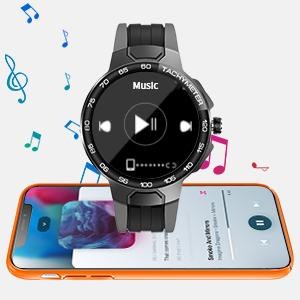 music control of fitness tracker