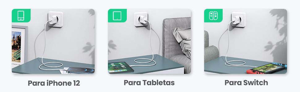 Cargador USB C para iPhone 12