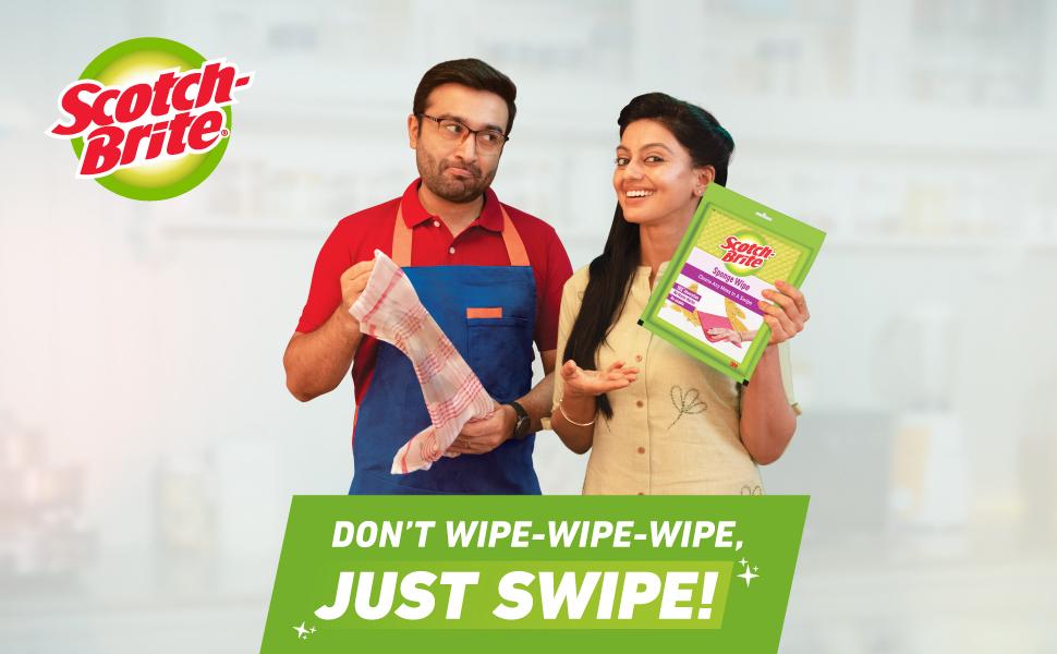 Sponge wipe, kitchen cleaner