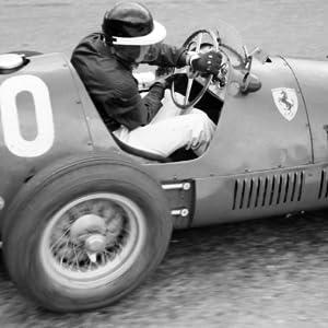 Mike Hawthorn racing in the 1954 Belgian Grand Prix.