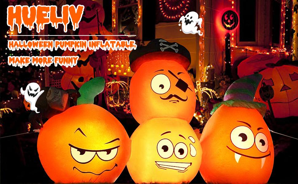 Halloween inflatable pumpkin lights