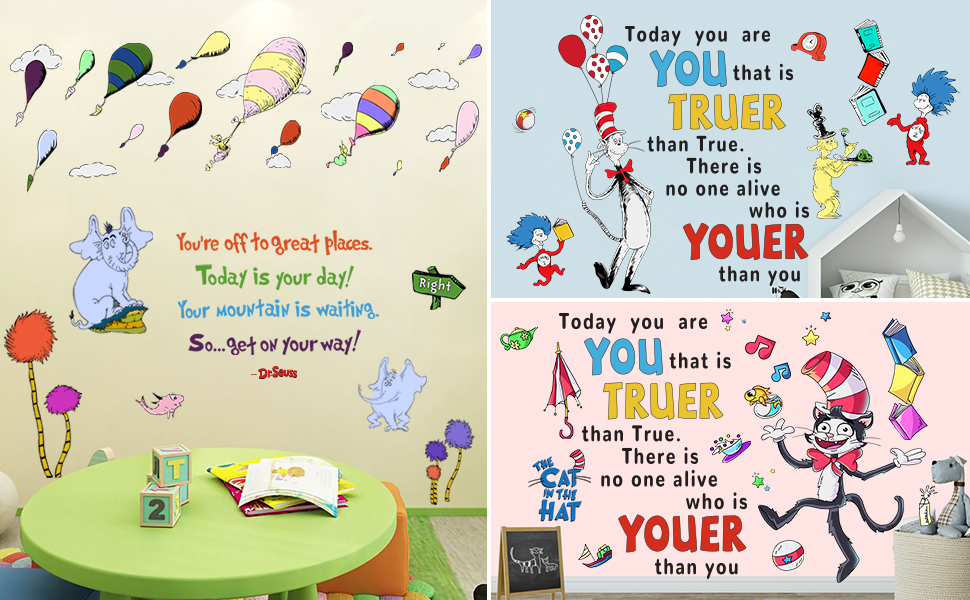 Dr Seuss Quotes Wall Stickers