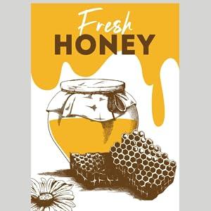 fresh pure honey