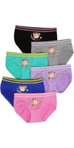 girls pack of six seamless bikini panty panties