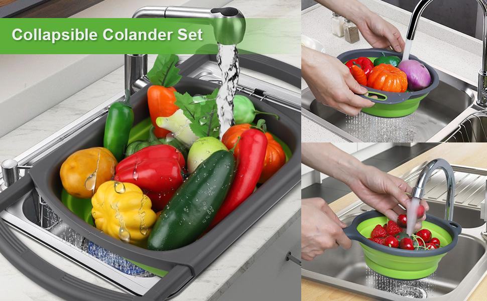 Collapsible Colander Set