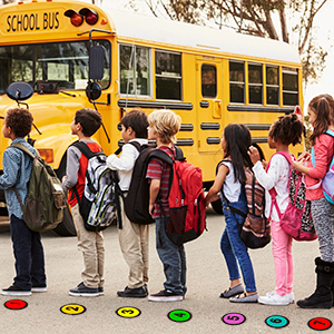 """Number Spot Markers and Labels,4"""" Classroom Line-up Spots Helpers Colorful Markers with Number"""