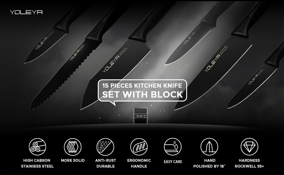 15 PIECES KNIFE SET