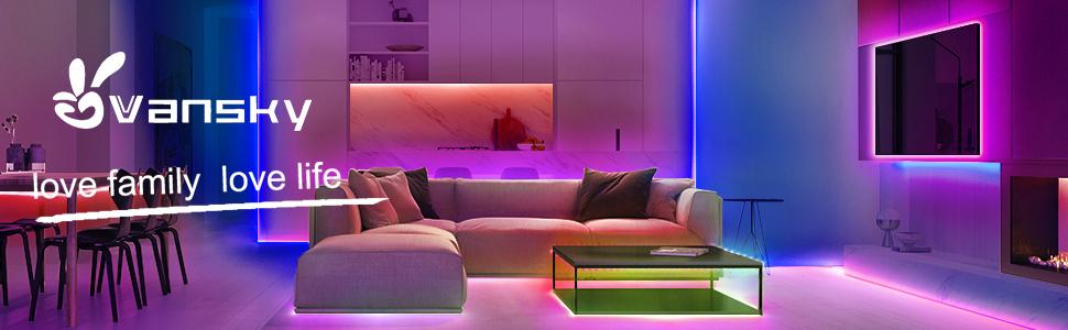 Vansky 2M RGB Hintergrundbeleuchtung für HDTV