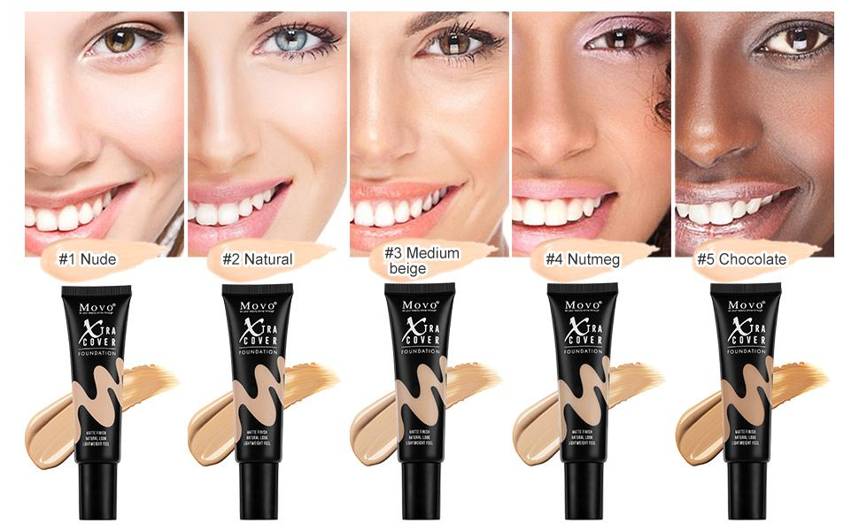 5 shades liquid foundation