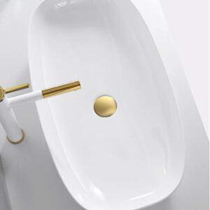 pop up sink drain brushed gold