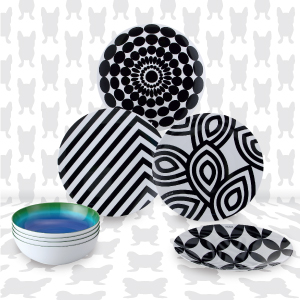 French Bull 4pc plate set