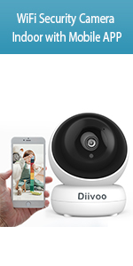 WiFi Security Camera Indoor with Mobile APP