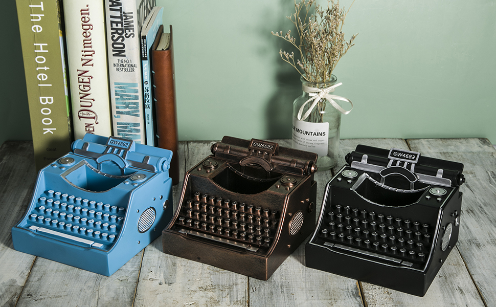Retro Typewriter Pen Holder