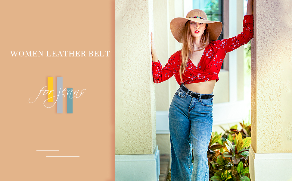 women leather belt for jeans
