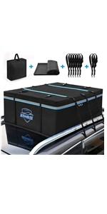 Car Roof Bag Cargo Carrier 15 Cubic Feet