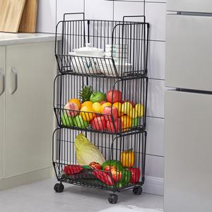 3 tier wire baskets for kitchen