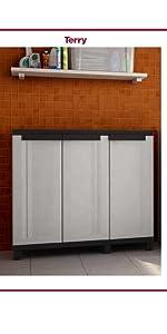 armoire basse multifonction etagère