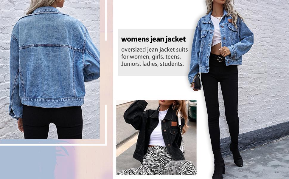 womens casual denim jacket coats