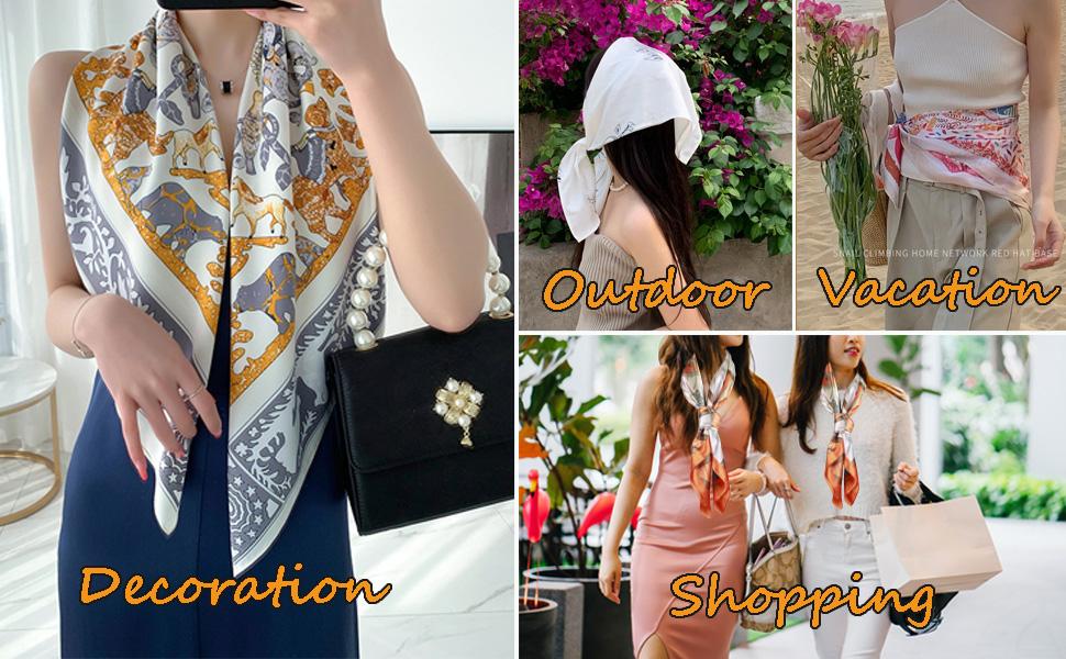Women silk like scarf