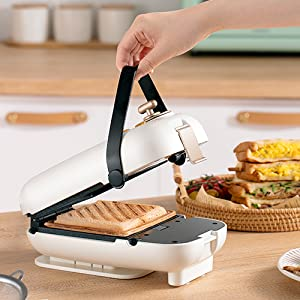 waffle maker 2 in 1 sandwich maker panini press grilled removable