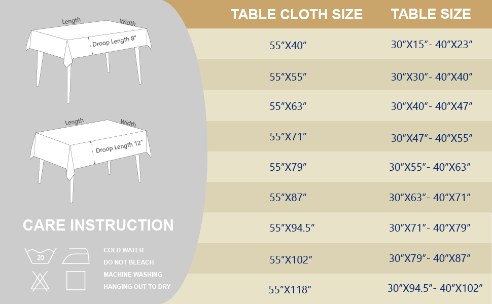 970X600 TABLECLOTH SIZE CHART