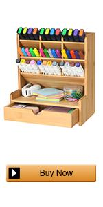 Bamboo pen organizer with Drawer