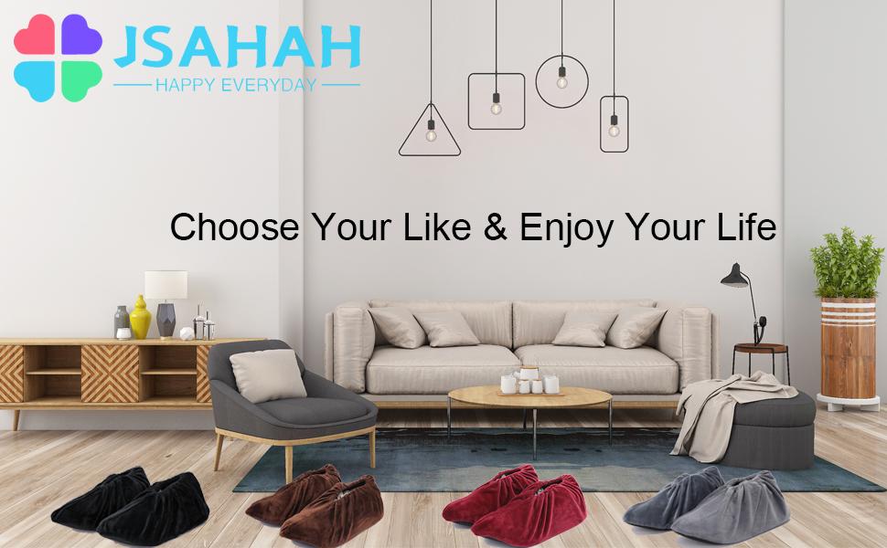 JSAHAH 4 Pairs Reusable Shoe Cover Non-Slip Washable Shoe/Boots Cover