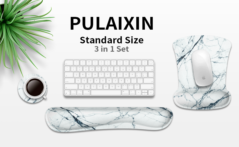 PULAIXIN Mouse Pad and Keyboard Wrist Rest Support Pad