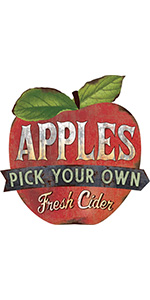 Pick Your Own Apples Metal Sign