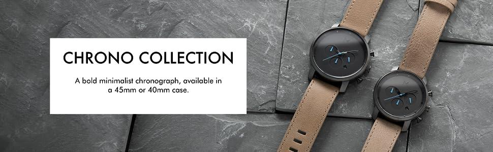 mvmt watches for men women revolver wrist watch leather link movado vincero