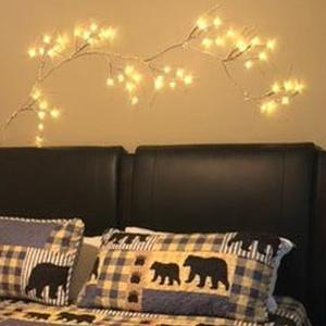 mantle garland with lights