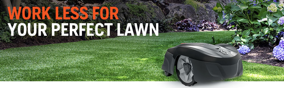 mowing unit that will automatically cut your grass with a boundary wire