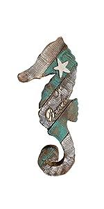 wood seahorse wall art decoration