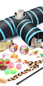 Pettom Cat Tunnel Tube Pet Toys 3 Way