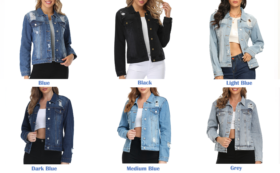 jean jackets for color choice