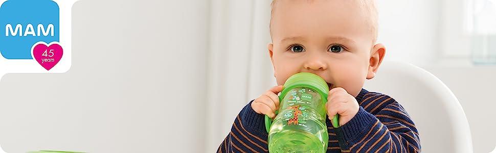 MAM pacifier breastmilk storage bottles newborn baby bottles for breastfed babies breast feeding