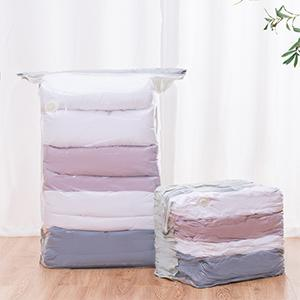Cube vacuum storage bags space saver bags for clothes, quilts, blankets, coats, space saving