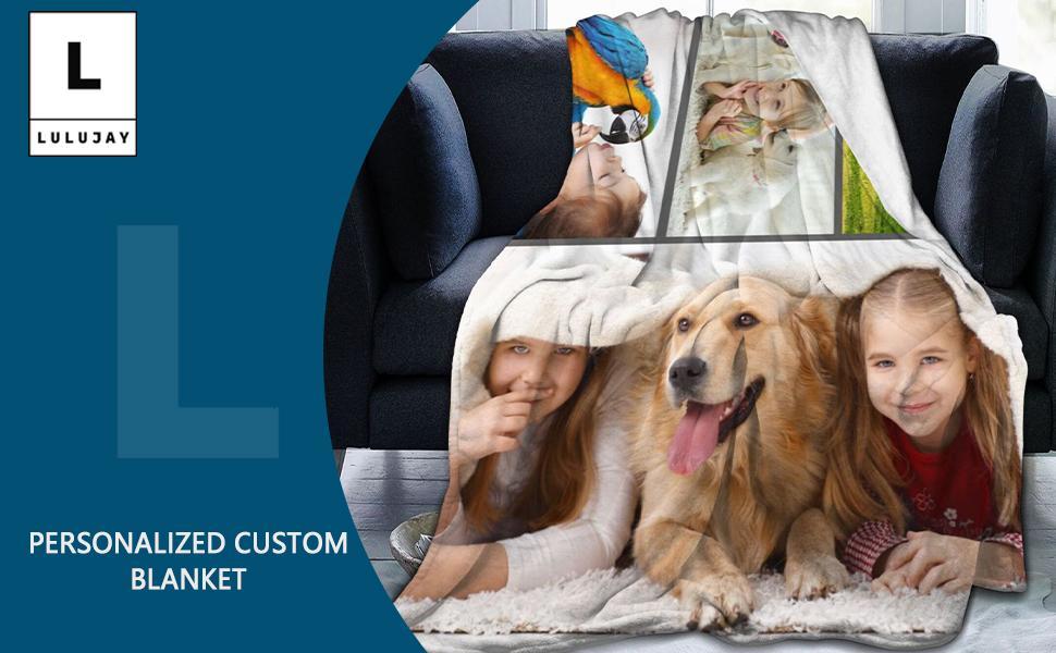 L LULUJAY Custom Blankets with Photos