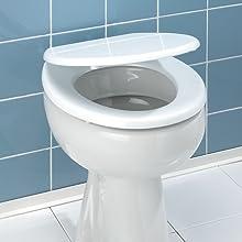 en acier inoxydable. L'abattant WC peut maintenant être embroché dans le support précédemment