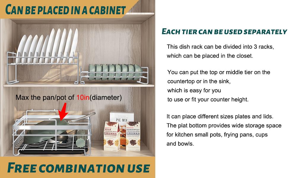 escurridor de platos dish rack and drainboard set dish organizer