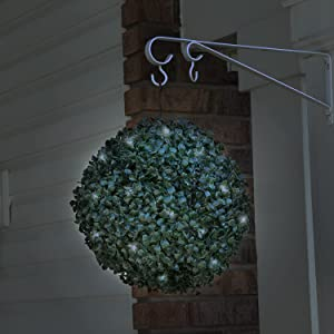 Solar Powered LED Artificial Topiary Ball
